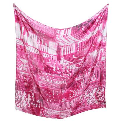 La Perla Seidentuch in Weiß/Pink