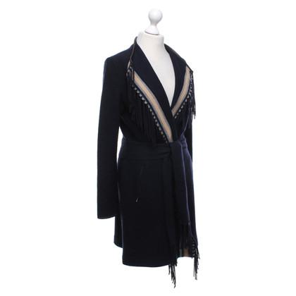 Bogner Dark blue jacket with fringes