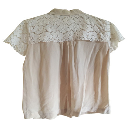 Max Mara Silk blouse with lace