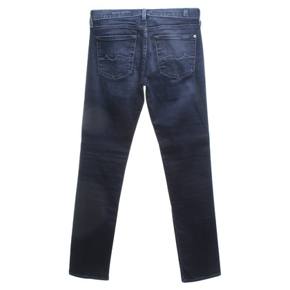 7 For All Mankind Jeans Skinny in blu