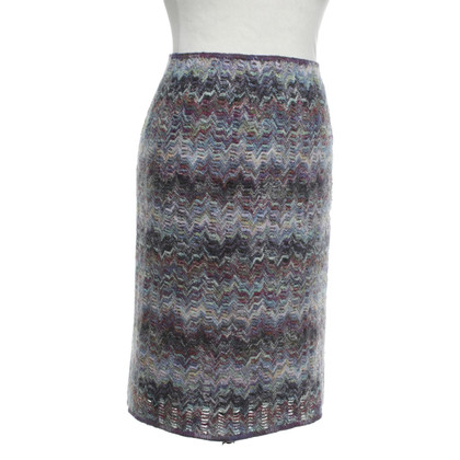 Missoni Knitted skirt with zigzag pattern