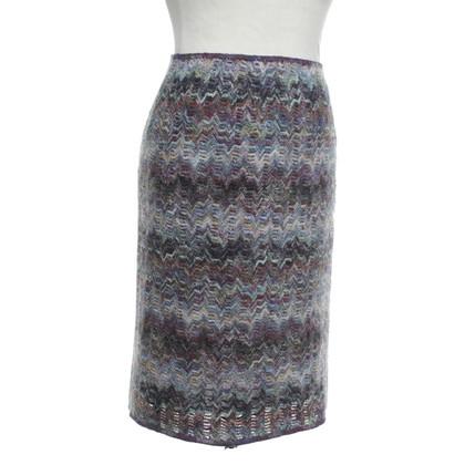Missoni Gebreide rok met zigzagpatroon