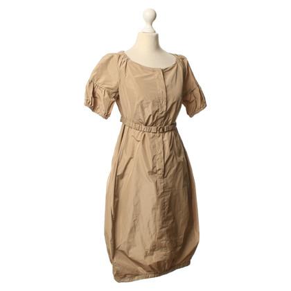Max Mara Beige jurk met taille gordel