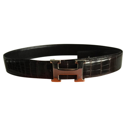 Hermès Belt made of Crocodylus Porosus