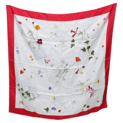 Hermès Seidentuch mit floralem Print