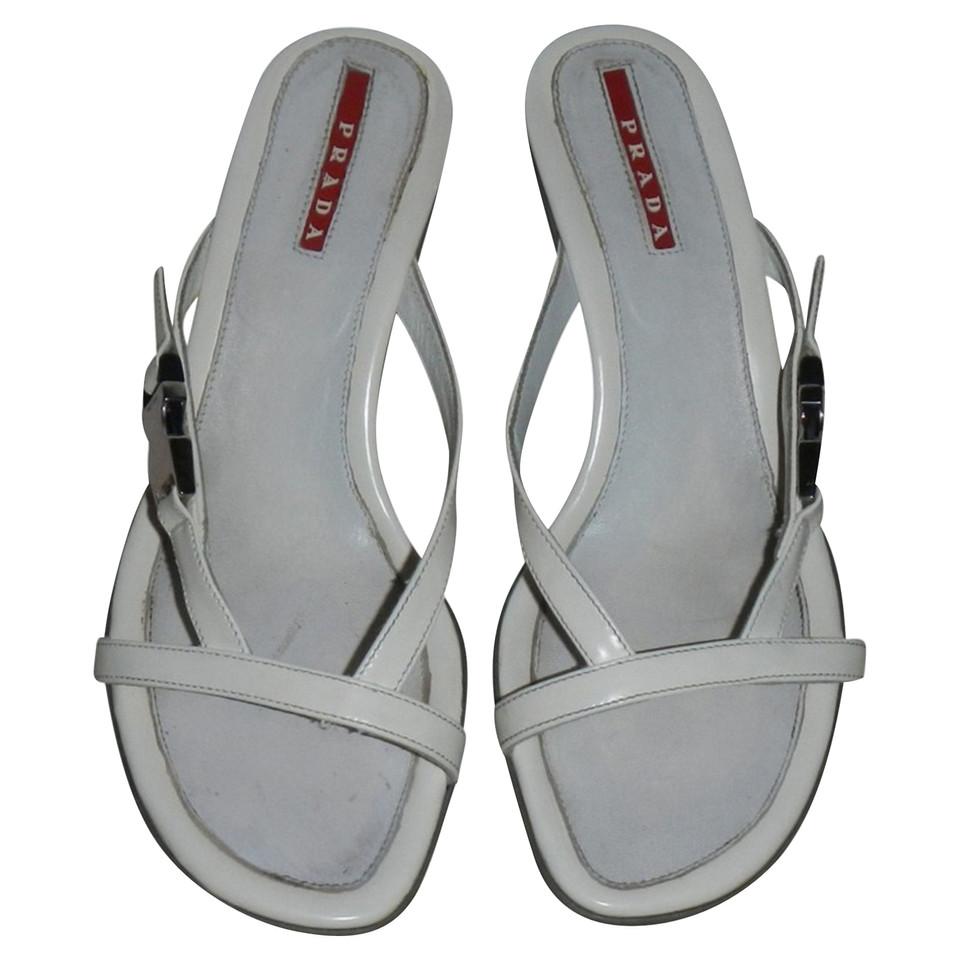 Prada Sandales en blanc