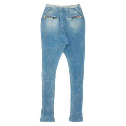 Balmain Jogging broek in denim blik