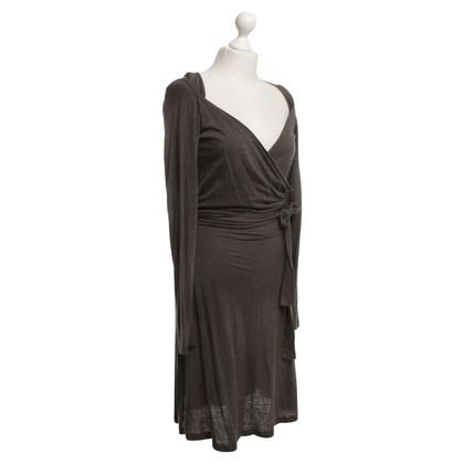 Hugo Boss Wrap dress in brown