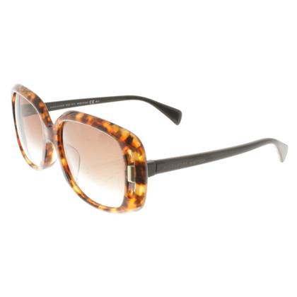 Alexander McQueen Sonnenbrille mit Schildpattmuster