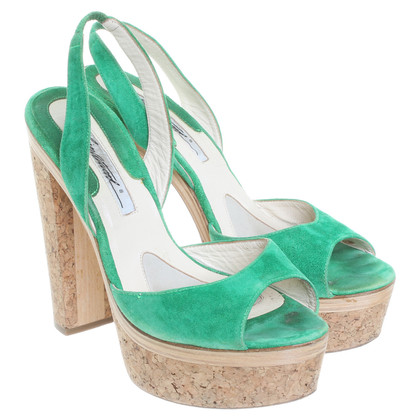 Brian Atwood Sandals in green