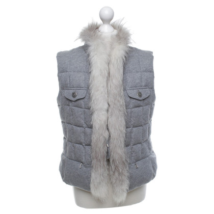 Bogner Voluminous vest with fur trim