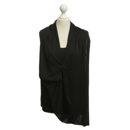 Laurèl camicetta di seta in nero