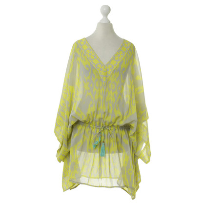 Other Designer Caffé - caftan tunic in yellow patterned fabric