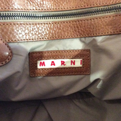 ef7afc56ee0 Marni Patent leather handbag in yellow - Second Hand Marni Patent ...