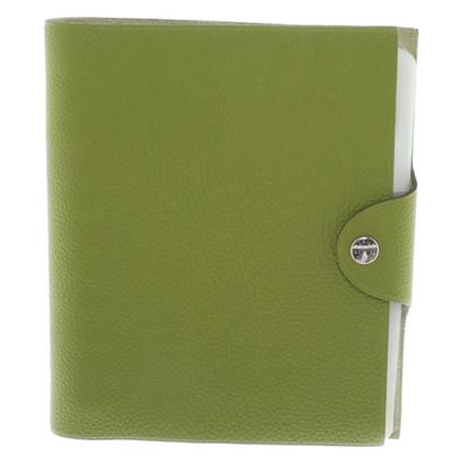 Hermès Business card wallet in green
