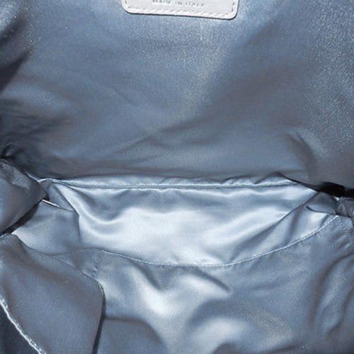 bd5efaff8f2c Chanel Handbag Leather in Silvery - Second Hand Chanel Handbag ...