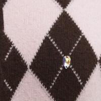 Blumarine Vest met geblokt patroon in bruin / beige