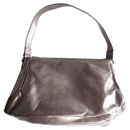 Armani Jeans Monogram silver bag