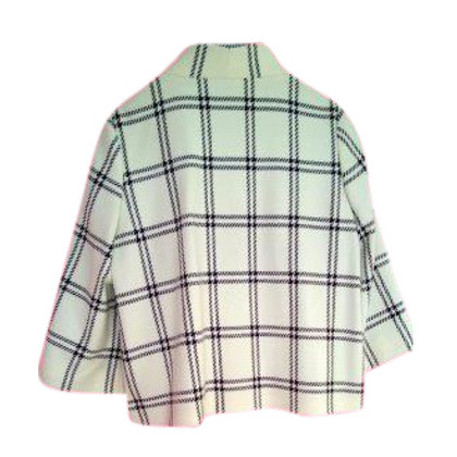 Luisa Cerano Giacca di lana di lana bianco/nero