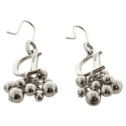 Christian Dior Silver colored earrings