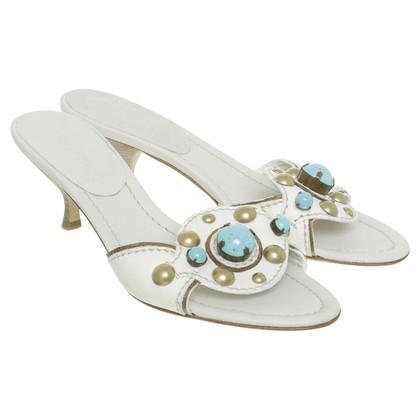 Miu Miu Slippers in white