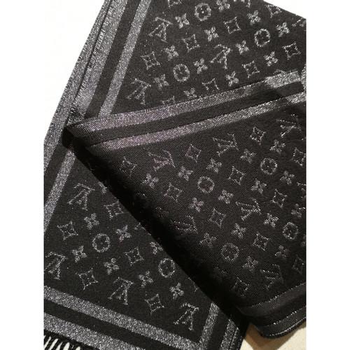 Louis Vuitton Echarpe Foulard en Cachemire en Noir - Acheter Louis ... 1ad267a3204