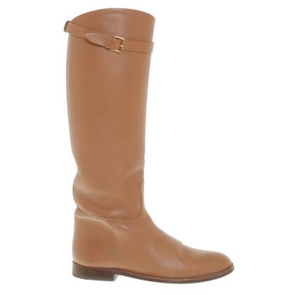 Hermès Stivali in pelle in marrone chiaro