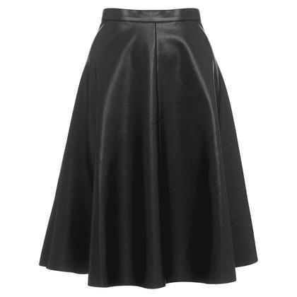 Whistles Imitation leather skirt
