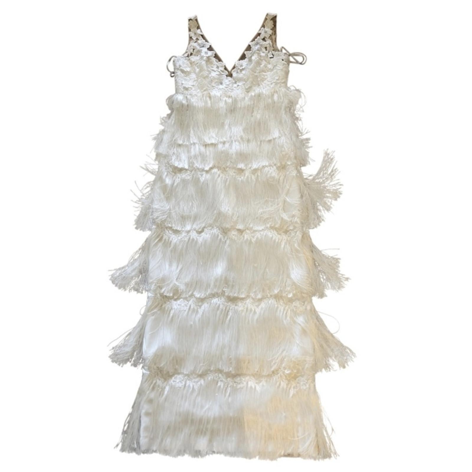 Marchesa Kleid in Weiß - Second Hand Marchesa Kleid in Weiß