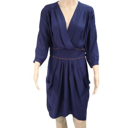 Whistles Silk dress in blue
