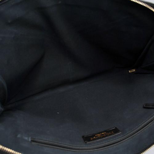 25a316798ee Yves Saint Laurent Handbag Leather in Black - Second Hand Yves Saint ...