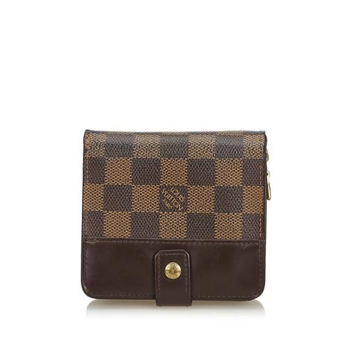 a72f1448da8e Louis Vuitton Compact Zip-Portemonnaie Damier Ebene - Second Hand ...