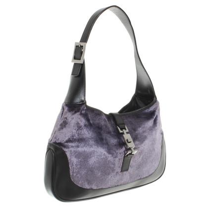 Gucci Fluweel handtas met leer