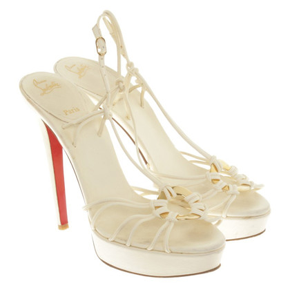 Christian Louboutin High Heels in crema