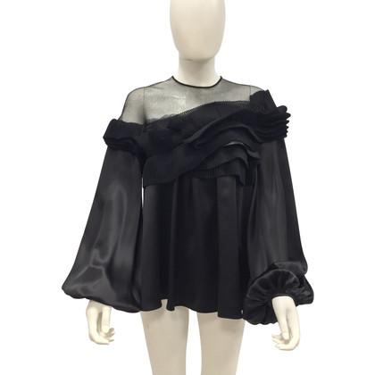 Givenchy blouse de soie en noir