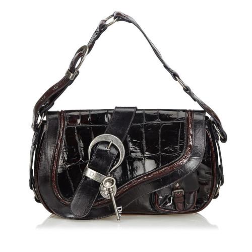 Christian Dior Shoulder bag Leather in Black - Second Hand Christian ... c150ec151d7ee