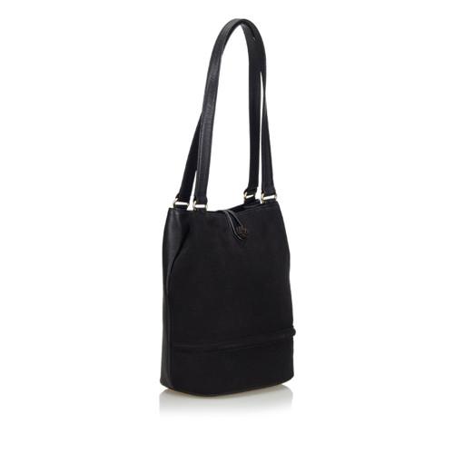 4920cd473016 Burberry Shoulder bag Suede in Black - Second Hand Burberry Shoulder ...