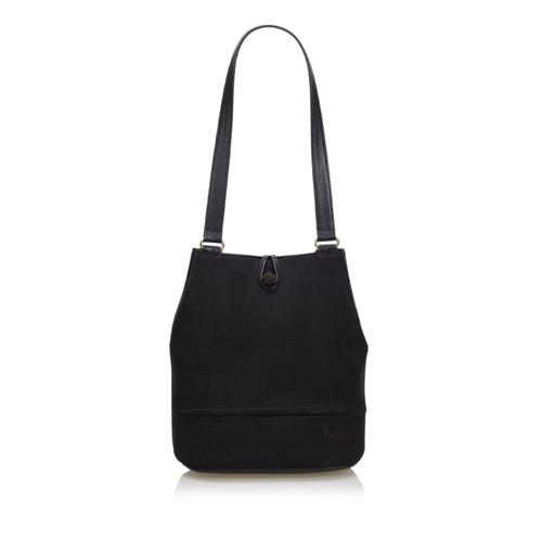 e0bd507e93b4 Burberry Shoulder bag Suede in Black - Second Hand Burberry Shoulder ...