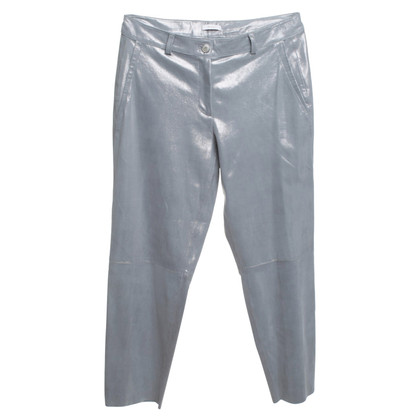 Riani Silver colored leather trousers