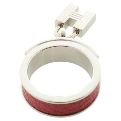 Hermès Ring mit Leder-Streifen