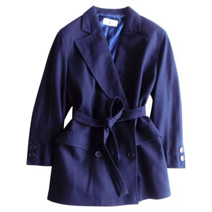 Valentino Doppio petto Cappotto in blu marino