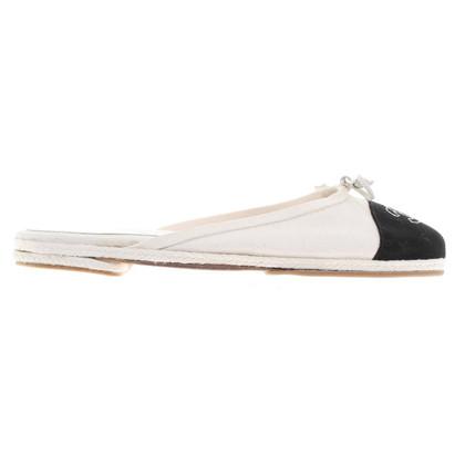 Chanel Slipper in Schwarz/Weiß