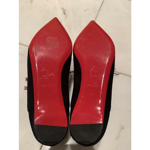 huge selection of 9faa0 ede33 Christian Louboutin Slippers/Ballerinas Suede in Black ...