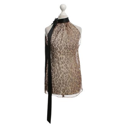 Dolce & Gabbana Top con stampa animalier