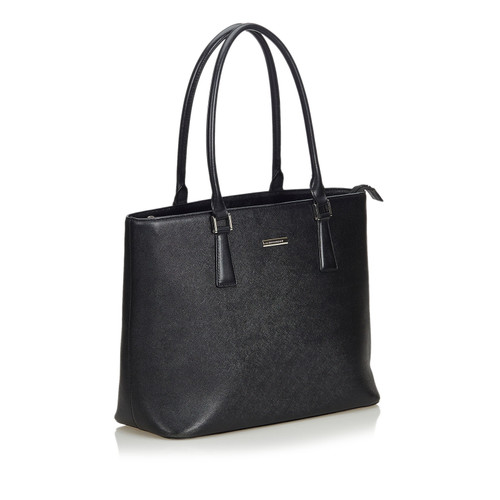 495465a6cdda Burberry Tote bag Leather in Black - Second Hand Burberry Tote bag ...