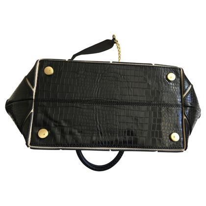 Reiss Black leather handbag