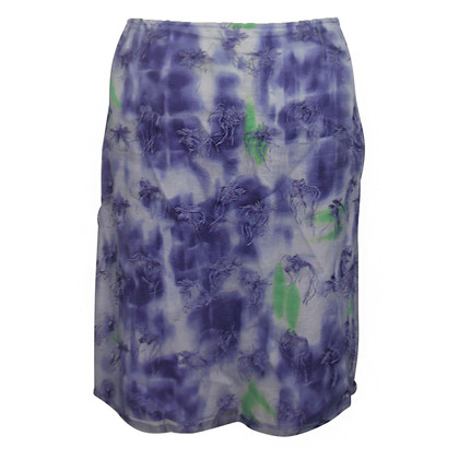 Versus skirt with transparent effect fabric
