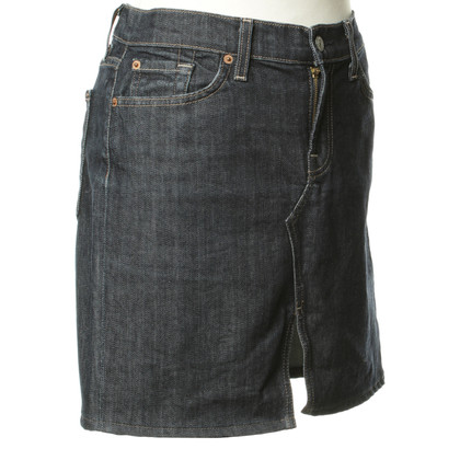 7 For All Mankind Jeans skirt in dark blue