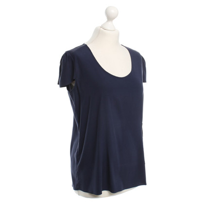 Steffen Schraut Top in seta in Dark Blue