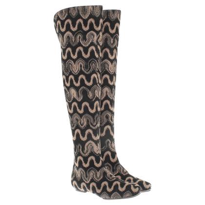 Missoni Boots in black / beige
